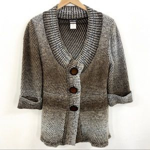 Belamie Mohair Blend Chunky Large Button Cardigan